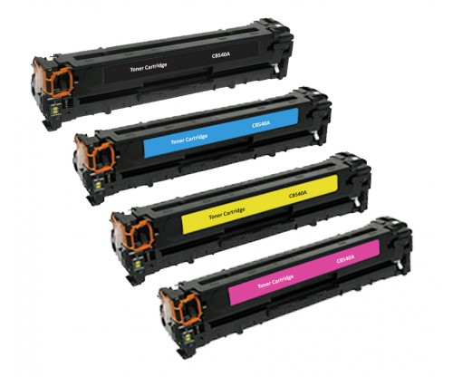 HP 125A **Value-Pack**Black/Cyan/Magenta/Yellow(CB540/541/542/543)