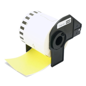 Brother DK Series Label Roll (Yellow/Black)